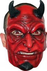 Masque diable avec cornes adulte Halloween