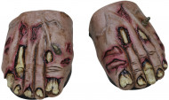 Sur-chaussures pieds zombie adulte Halloween