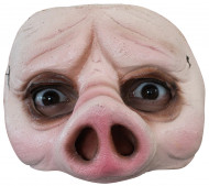 Demi-masque cochon adulte