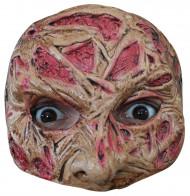 Demi-masque visage brûlé adulte Halloween