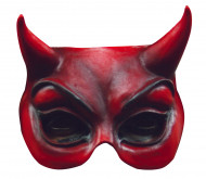 Demi-masque diable rouge adulte