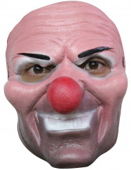 Masque clown malfaisant nez rouge adulte Halloween