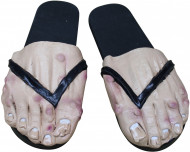 Sur-chaussures pied homme adulte noir halloween