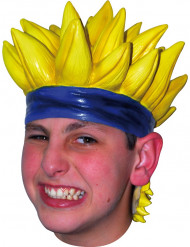 Perruque manga jaune adulte