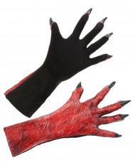Gants démon adulte Halloween