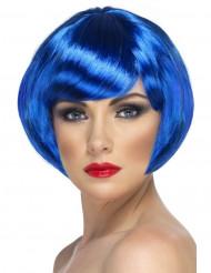 Perruque cabaret courte bleue femme