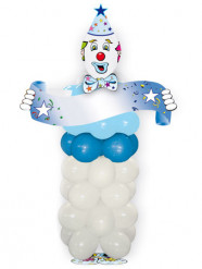 Kit ballons en forme de clown bleu