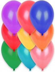 12 Ballons biodégradables différentes couleurs 28 cm