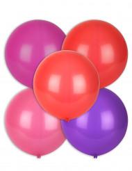 5 Ballons différentes couleurs 47 cm