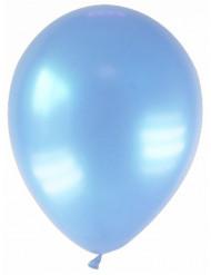 12 Ballons métallisés bleus clairs 28 cm
