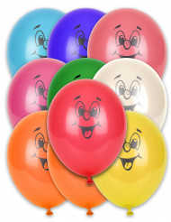 10 Ballons différentes couleurs smile