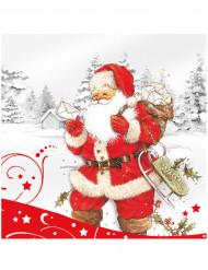 20 Serviettes en papier Père Noël