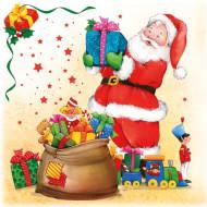 20 Serviettes Père Noël