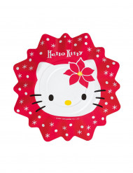 8 Petites assiettes Hello kitty™ Noël