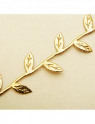 Guirlande feuilles or