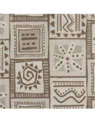 14 Serviettes en papier épais Beige motifs marrons 40 x 40 cm