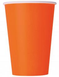 10 Gobelets orange en carton