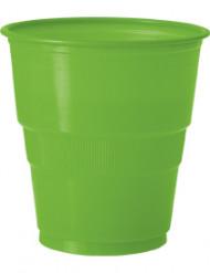 12 Gobelets en plastique vert citron