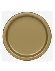 16 Assiettes en carton doré 22 cm