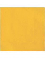 20 Serviettes en papier Jaune uni 33 x 33 cm