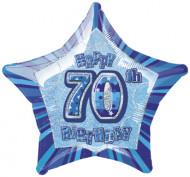 Ballon étoile bleu Age 70 ans