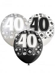Ballons gris 40 ans
