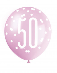 Ballons roses 50 ans