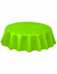 Nappe ronde en plastique vert citron