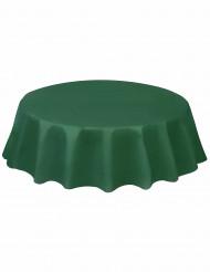 Nappe ronde en plastique vert foncé