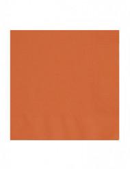 50 Serviettes orange 33 x 33 cm