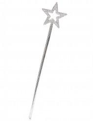 Baguette magique étoile argentée adulte