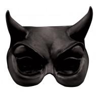 Demi-masque diable adulte noir