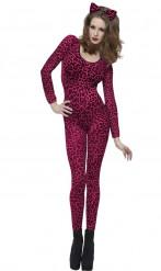 Déguisement léopard femme rose