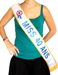 Echarpe  Miss 40 ans