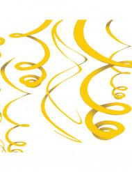 Décorations à suspendre jaunes