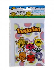 6 cartes d'invitation avec enveloppes Monsieur Madame™