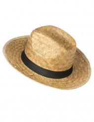 Chapeau cowboy en paille adulte