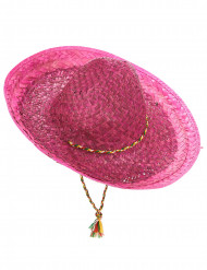 Sombrero mexicain rose adulte