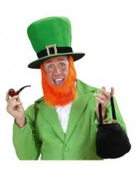 Chapeau haut de forme avec barbe adulte Saint Patrick