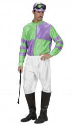 Déguisement jockey vert et violet adulte
