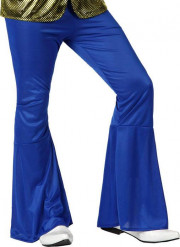 Pantalon disco homme bleu foncé