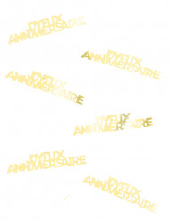 Confettis de table Joyeux Anniversaire dorés