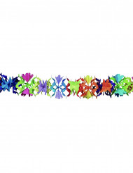 Guirlande papier multicolore motif fleurs