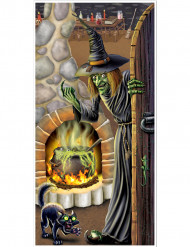 Décoration de porte maison d'une sorcière