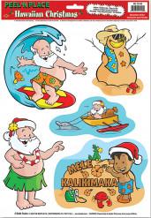 Stickers Noël à Hawaï