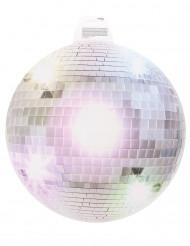 Décoration murale boule disco argentée