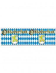 Bannière bleue et blanche Oktoberfest
