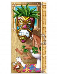 Décoration de porte toilette Hawaï