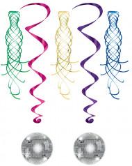 Décorations à suspendre spirale Boule Disco et tourbillon