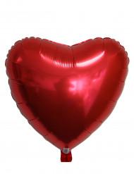 Ballon aluminium coeur rouge